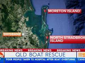 Passenger boat capsizes off North Stradbroke Island