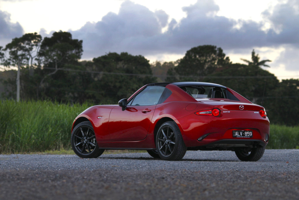 Superb as a faux Coupe, the Mazda MX-5 Retractable Fastback has a beautifully folding hardtop and delivers the same brilliant drive as its soft top cousin.