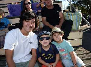 Quentin Lau, Liam Tourle,3, and Bodhi Lau, 4, of