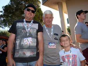 Adam, Terry, Jake, 7, Howell, of Grafton, at Nitro