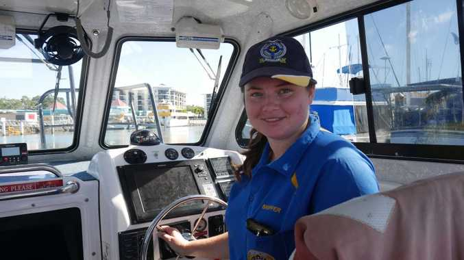 Josie Faulkner, 22, spends her spare time volunteering as a skipper at Hervey Bay Marine Rescue.