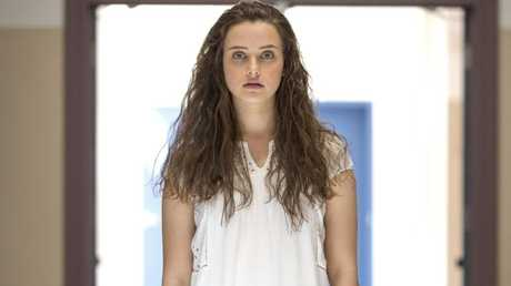 Australian actor Katherine Langford as Hannah Baker.