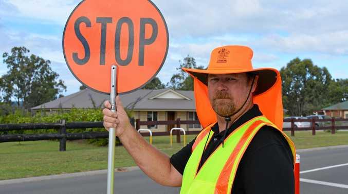 ON GUARD: Hatton Vale State School crossing supervisor Kennet Kalen Hatchfield.