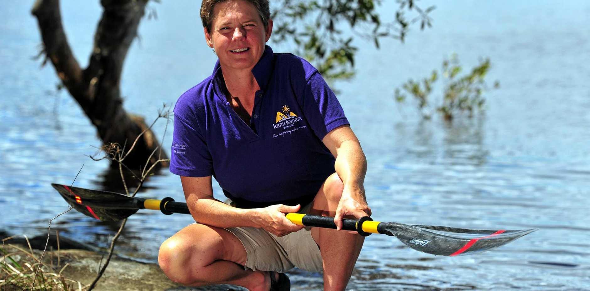 PADDLE MASTER: Boreen Point resident and former Australian Champion white water slalom paddler Vivienne Golding.