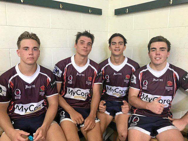 BIG STEPS: The under-19s representatives from Whitsundays Sam Cornish, Aden Spence, Taine Browne and Ben Cornish.