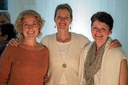 REFUGE: Federal Loves Refugees organisers Julie Lipsett, Francesca Hart and Peta Marks.