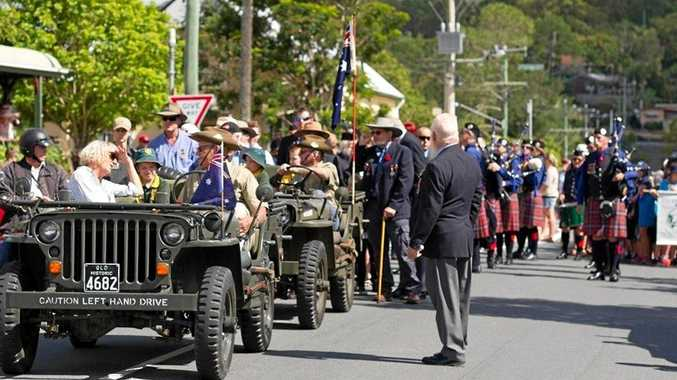 PARADE HONOUR: Yandina Eumundi RSL Auxiliary volunteer Jesse Pegg led the parade for Anzac Day.