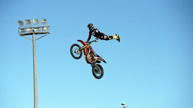 Nitro Circus Live hit Oakes Oval on Anzac Day to a giant crowd from around the region.
