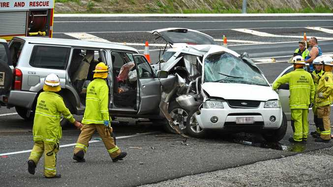 Fatal accident at United service station north of Gympie.