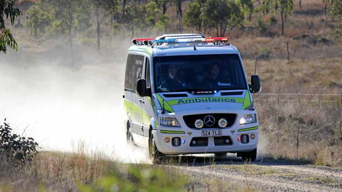 Ambulance paramedics attended a paddock fire in Ballandean.