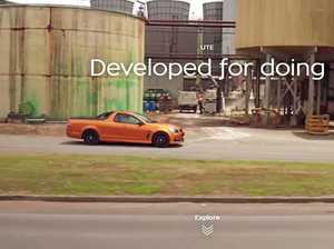 The new Holden ute cruises past the Marian Mill in a new national ad.