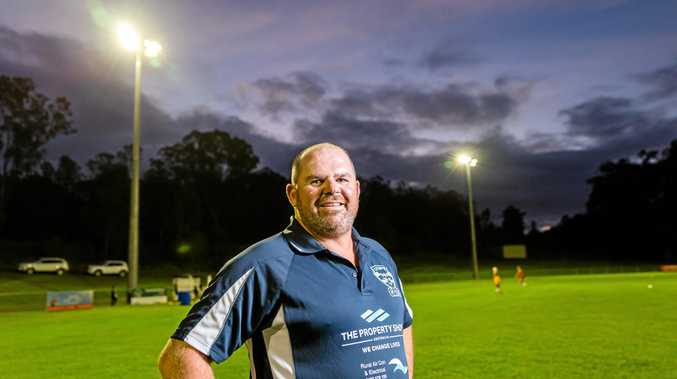 SHINING GLORY: Gympie Cats president Jason Bromilow is proud to welcome night-time games to the line-up.