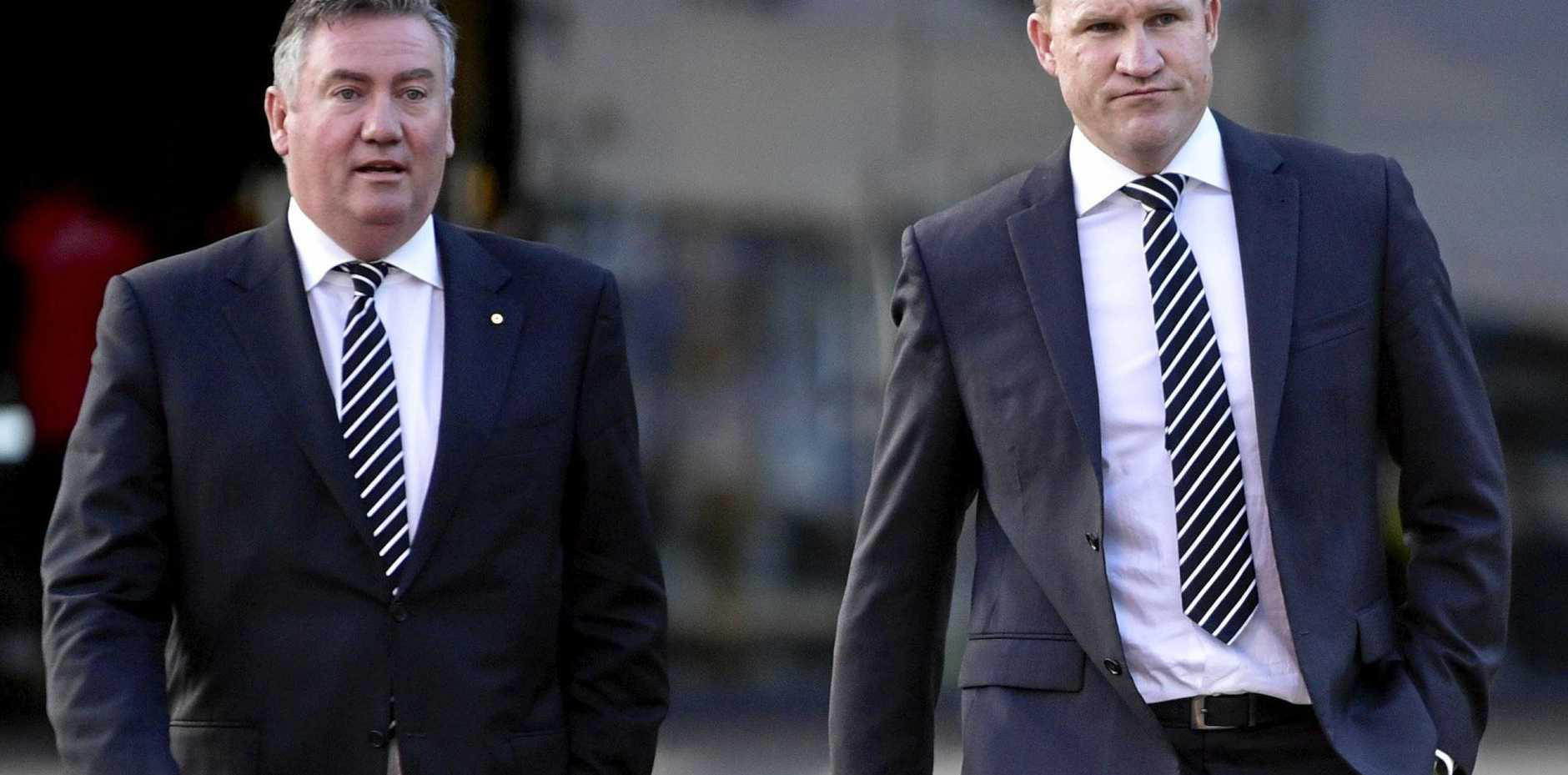 Collingwood president Eddie McGuire and Collingwood coach Nathan Buckley