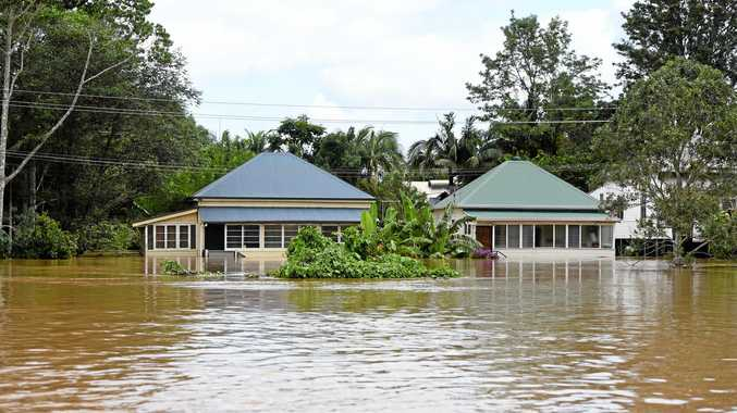 North Lismore during the floods.