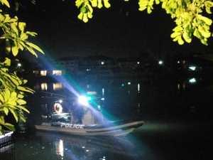 Hunt for teens after stolen car ends up in river