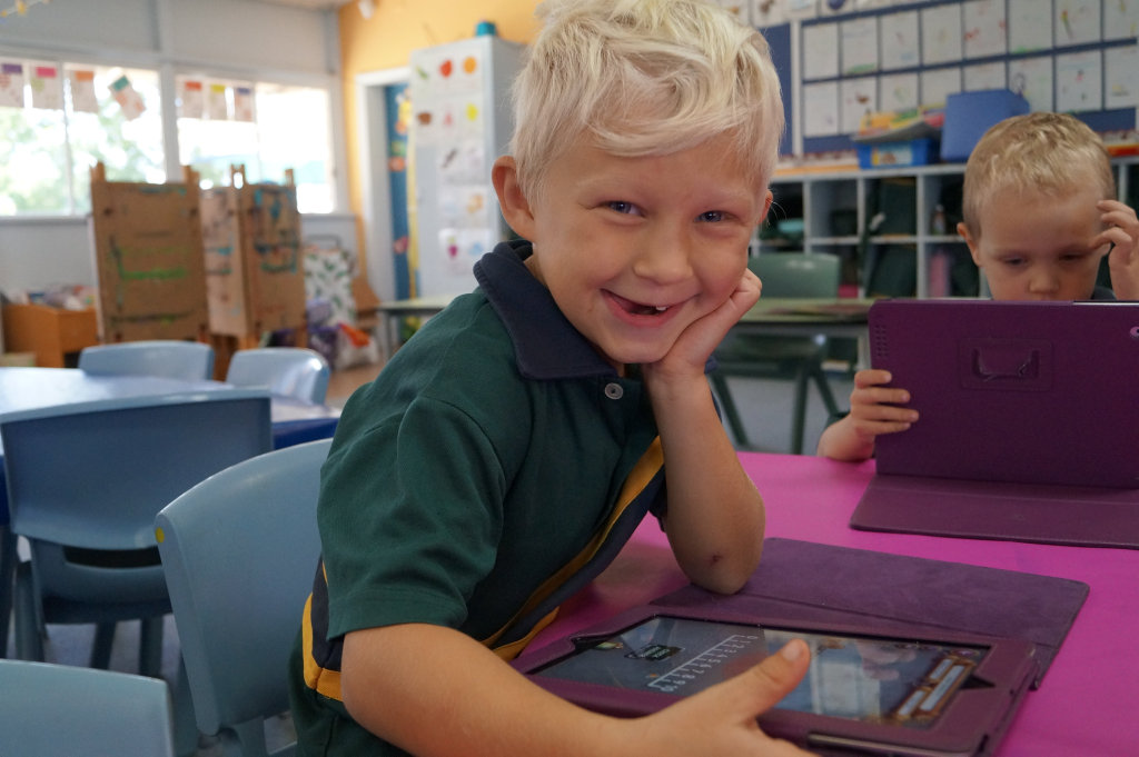 Student Jacob Spies is ready for new digital literacy at his school.