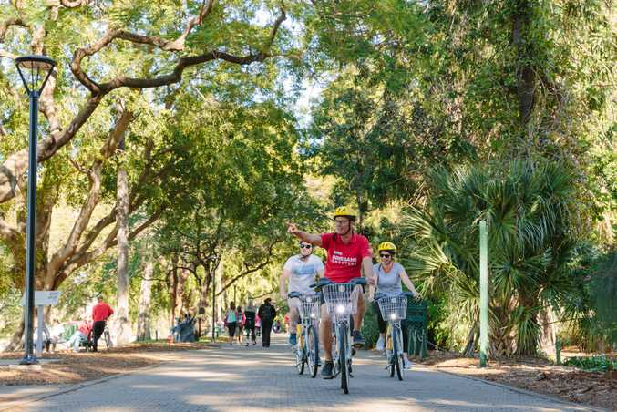 Take a ride around the city with the Brisbane Greeters.