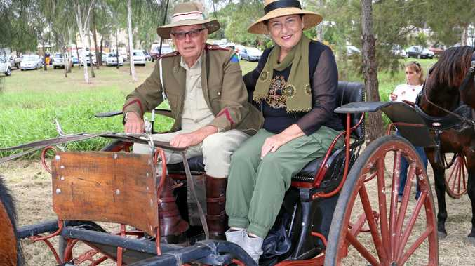Range Carriage Driving Club members Michael and Julie Wells at the annual Laidley Heritage Weekend, April 22-23, 2017.