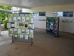 EYE-CATCHING: Each class worked on a history display for the Thangool State School's 90th celebrations.