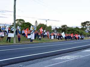 BREAKING: 'Worst approach': Workers warn bosses with protest