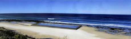 ARTIST'S IMPRESSION: Lennox Head artist Mark Waller created this impression of what the proposed Ballina Ocean Pool would look like.