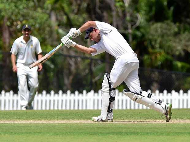 RECOGNISED: Adam Thornton batting for Maroochydore.