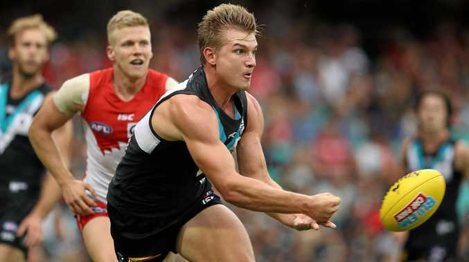 Ollie Wines of Port Adelaide.