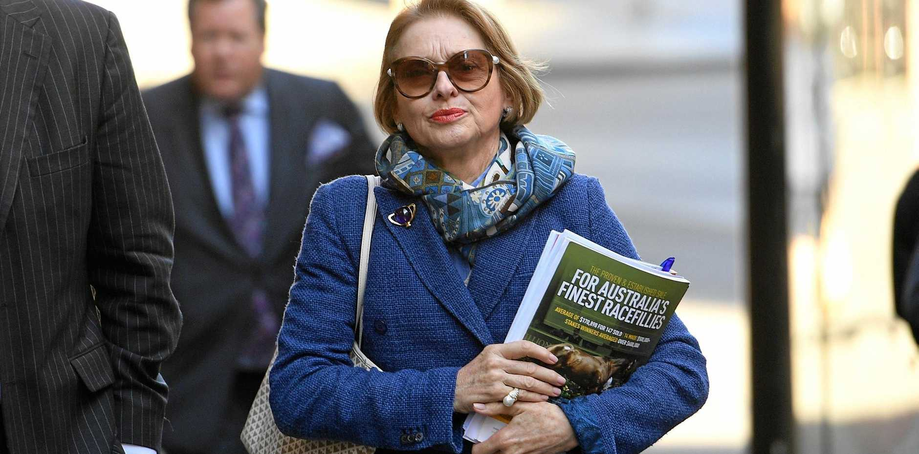 Horse trainer Gai Waterhouse arrives at a Stewards Hearing at Racing NSW, in Sydney.
