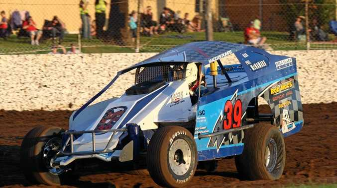 Caption: Former state titleholder Phil McNamara has entered the 2017 NSW V8 Dirt Modified Championship at Castrol Edge Lismore Speedway this Saturday night.