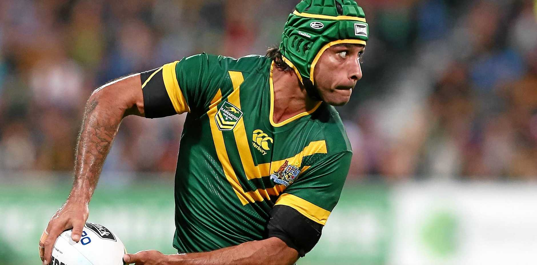 Johnathan Thurston playing for the Kangaroos last year.