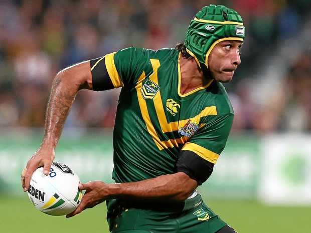 Johnathan Thurston playing for the Kangaroos last year.