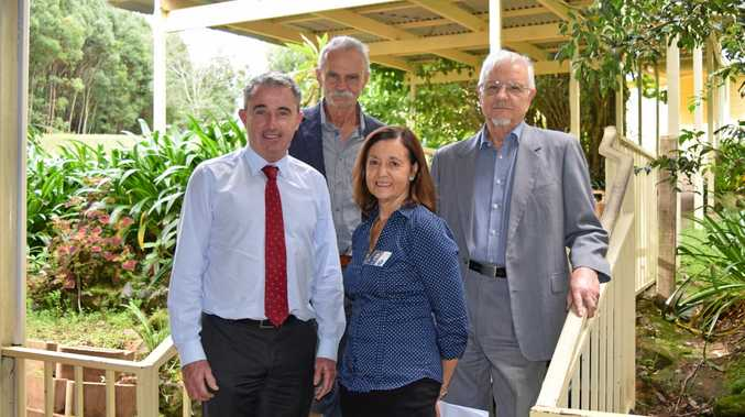 Page MP Kevin Hogan, North Coast Primary Health Network's Elizabeth Davis and the Buttery's Krystian Gruft and CEO John Mundy announcing an innovative new outpatient rehab program for drug and alcohol abusers.