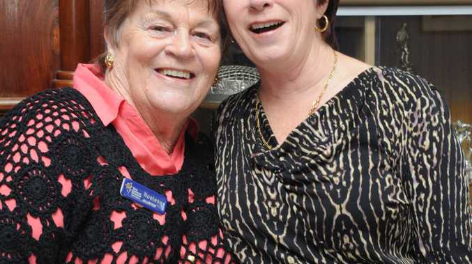 Maryborough Branch Cancer Council Luncheon- Noelene Schiefelbein and Glenda Schubert. Photo: Robyne Cuerel / Fraser Coast Chronicle