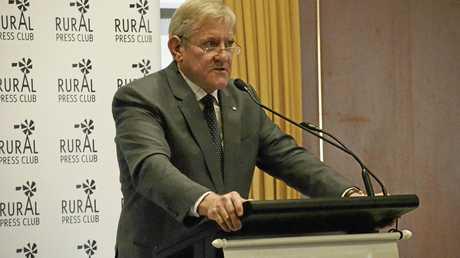 Queensland Resource Council chief executive Ian Macfarlane speaking at the Rural Press Club.