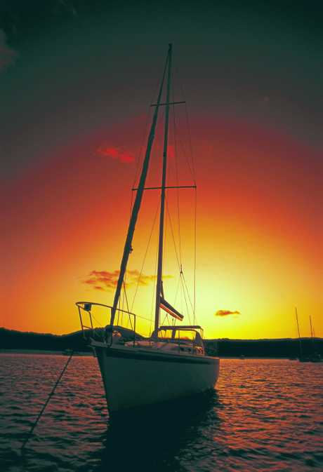 Visitors to the Whitsundays can literally sail away into the sunset.