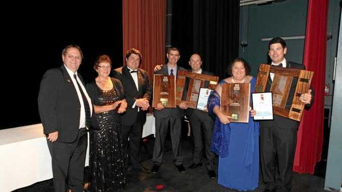 TNC Cranes and H.E.M.E. were jointly crowned 2015 Central Highlands Business ofthe Year.