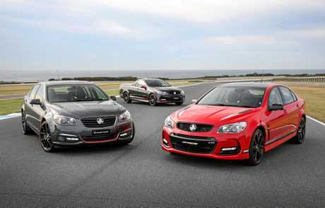 SHEDDED: Many versions of the MY17 Commodore Limited Edition - Director, Magnum and Motorsport, will never be driven on the road.