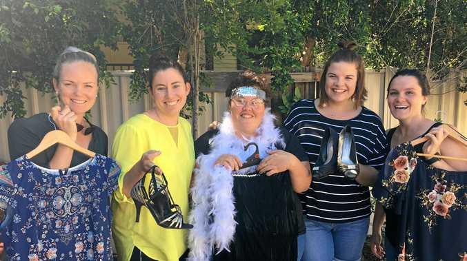 SHOP SHAPE: Katrina Smith, Nikki Black, Kerry Lee Miller, Niamh Lynch and Gabby Leonard are ready for the Dougie Street Ladies' Twilight Market.