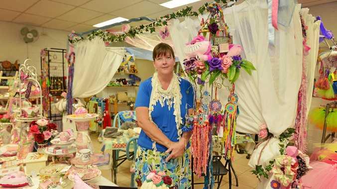 GYMPIE'S OWN ALICE: Maxene Grewar has created her own craft Wonderland in the James Nash arcade.