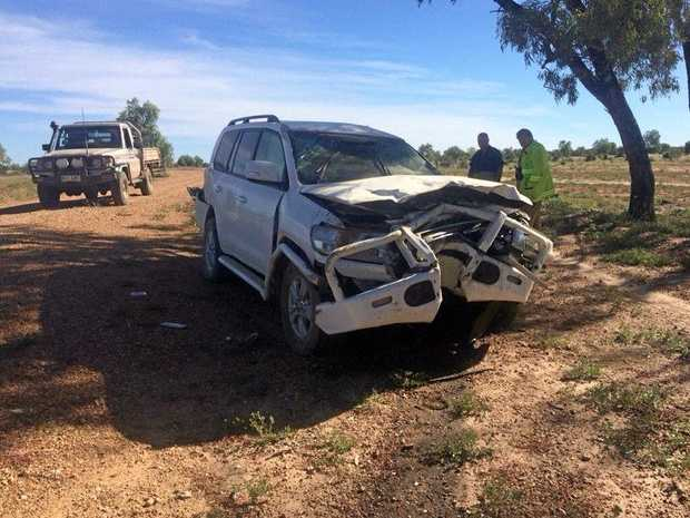 Baby lucky to be alive after crash