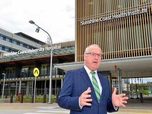 Mayor Mark Jamieson launches the Sunshine Coast Council's Operation MedSchool campaign at the new Sunshine Coast University Hospital. January 3, 2017.