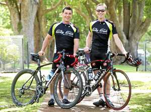 CYCLING FOR CAUSE: Toowoomba cyclists Steve Randall (left) and Brenton Thompson are doing the TOOMOO ride, riding 220km from Toowoomba to Mooloolaba to raise funds for STEPS Pathways College.