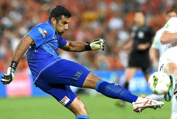 Roar goalkeeper Jamie Young