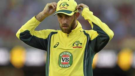 Glenn Maxwell playing a one-day international for Australia.