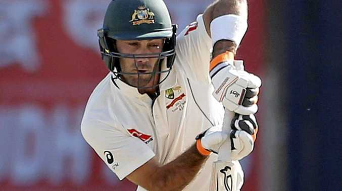 Australia's Glenn Maxwell plays a shot during the first day of the third Test against India in Ranchi in March.