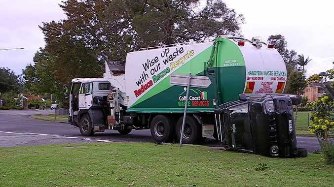 Parked Car Hit By Garbage Truck Coffs Coast Advocate