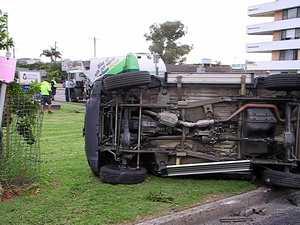 Garbage truck v car accident
