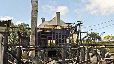 WEST STREET: The young family that lived in 72 West St escaped a fierce fire which tore through the colonial home the morning of Friday 13. The only thing left standing was the double brick chimney.