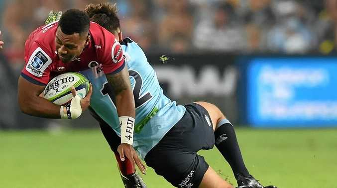 ORIGIN DREAM: Reds stand-in captain Samu Kerevi (with ball) wants his team to show passion like the Maroons in State of Origin.