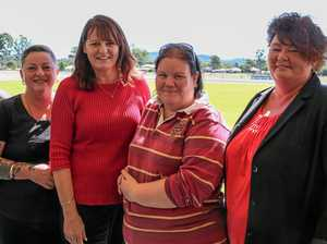 WE WANT YOU: The team working at the Gympie District Show. Sandy Lashford, Sharon Dunn, Donna Dodson, Bec Cook and Lisa Robinson.